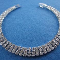 Bratara White Crystal