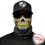 Bandana/Face Shield/Cagula/Esarfa - Calavera Skull, SA Co. original, Din imagine