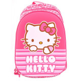 Ghiozdan clasele I-IV Pigna Hello Kitty roz dungi HKRS1703-1
