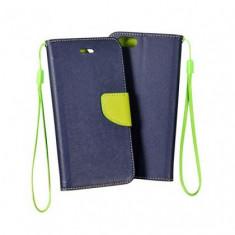 Husa Flip Fancy Nokia Lumia 730/735 Blue/Verde