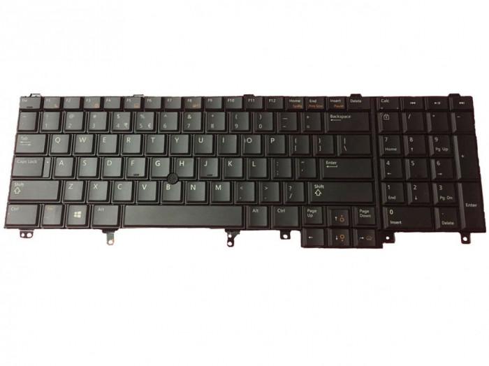 Tastatura Dell Precision M6600 iluminata cu mouse pointer US