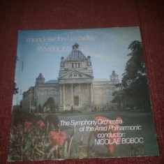 Mendelssohn Bartoldy-Symphony 5-Nicolae Boboc Electrecord vinil vinyl