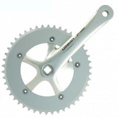 Pedalier Prowheel 46T 1/2-1/8 Brat 165mm Alu Argintiu Ax PătratPB Cod:4554565SKRM