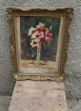 Acuarela vaza cu flori