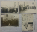 Ceremonie militara// lot 4 fotografii, perioada interbelica