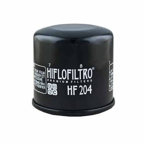 Filtru Ulei Hiflofiltro HF204 Honda CB600 CBR600 900 1000 VT750 VFR800 1200 ST1300 GL1800; Kawasaki ZX600 1000 1200 Z750 1000; Yamaha FZ6 FZ8 FZ1 YZF