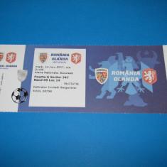 Bilet meci fotbal ROMANIA - OLANDA (14.11.2017)