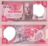 1972 ( 24 XI ) , 20 escudos ( P-99 ) - Angola - stare UNC