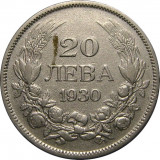 Bulgaria, 20 leva 1930_argint_Regat Boris al III-lea  * cod 43