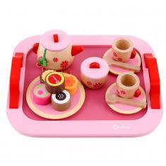 Set de joaca din lemn ceaiul de dupa amiaza set de bucatarie