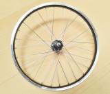 Roata Bicicleta Spate Luna 20 , 406X21, Alu Simpla, Neagra, Butuc Viteza Otel Negru 28H