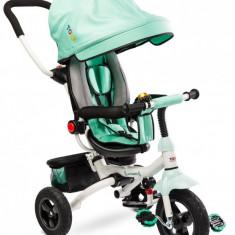 Tricicleta copii reversibila si pliabila Toyz Wroom Turquoise