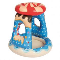 Piscina gonflabila pentru copii cu paravan, 91x91x89 cm