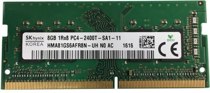 Memorii Ram Laptop SKhynix 8GB DDR4 PC4-2400T 2400Mhz HMA81GS6AFR8N