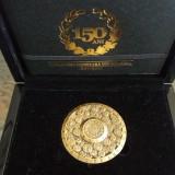 MEDALIE BRONZ 150 DE ANI DE LA PRIMA LEGE MONETARA DIN ROMANIA