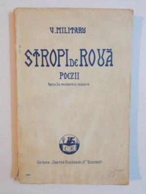 STROPI DE ROUA.VERSURI de V. MILITARU, EDITIA A II-A REVAZUTA SI ADAUGITA de V. MILITARU foto