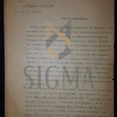 DOCUMENT MINISTERUL CULTELOR SI INSTRUCTIUNEI, SEMNAT SPIRU HARET SI P. GARBOVICEANU, 1908