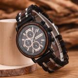 Cumpara ieftin Ceas din lemn Bobo Bird cu curea din lemn, S18