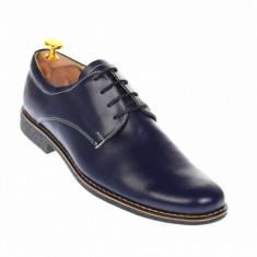 Pantofi barbati casual din piele naturala bleumarin inchis, P80BLM