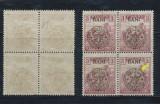 1919 ROMANIA emisiunea Cluj seceratori 3B bloc de 4 cu eroarea X10 cadru spart