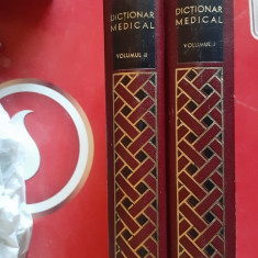 DICTIONAR MEDICAL --VOL 1 SI 2- ED. MEDICALA ANUL 1970 .