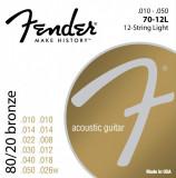 Corzi chitara acustica Fender 70-12L 80/20 Bronze, 12 strings 10-50