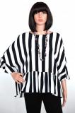 Bluza dama-Zara, XL, Alb & Albastru