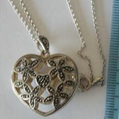 Lantisor si pandant argint cu marcasite -2790