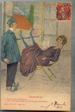 AX 58 CP VECHE INTERBELICA - UMORISTICA -TARANIMEA  -GLUMA -CIRCULATA 1912, Franta, Printata