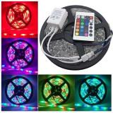 Banda cu LED-uri RGB multicolore joc de lumini si telecomanda, Oem