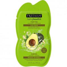 Masca hranitoare si purificatoare FREEMAN Purifying Avocado + Oatmeal Clay Mask 15 ml