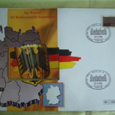 Cartela Telefonica + FDC Germania Der Bundesrepublik - Exponat Numerotat