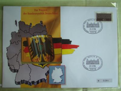 Cartela Telefonica + FDC Germania Der Bundesrepublik - Exponat Numerotat foto