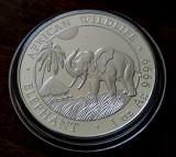SOMALIA - 100 Shillings 2017 - in capsula - Elefant - argint 31.1 gr. - 999/1000