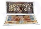 Romania–LOT 10 buc. (reproduceri)-Bancnote polimer placate cu argint 999‰ (L 3)
