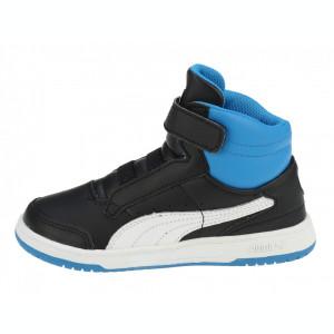 Adidasi ghete copii Puma Full Court High V Kids black-white-brilliant blue 35399810