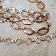 Superba si finuta curea din metal auriu