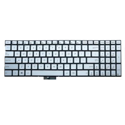 Tastatura Laptop Asus Zenbook N592 argintie iluminata foto