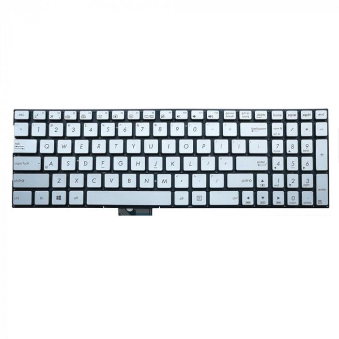 Tastatura Laptop Asus Zenbook Q502 argintie iluminata