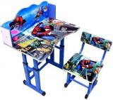 Birou pentru copii cu desene Spiderman, lemn + metal,albastru