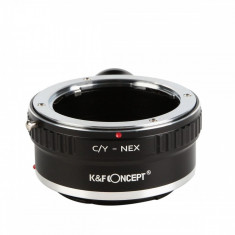 K&F Concept C/Y-NEX adaptor montura Contax Yashica la Sony E-Mount (NEX) cu adaptor pentru trepied KF06.259