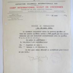 Cumpara ieftin Rara! Invitatie pentru 2 echipe romanesti la concurs semnalizare cercetasi 1931