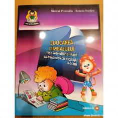 Educarea limbajului fise interdisciplinare .La gradinita cu Niculita! 4-5 ani