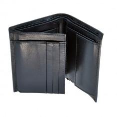 Portofel negru, pentru barbati, din piele naturala, 2245-23