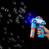 Pistol baloane sapun, LED multicolor, forma masina Police cu sirena, PRC