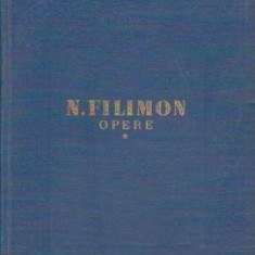Opere, Volumul I - Nicolae M. Filimon, Nicolae Filimon