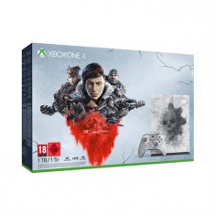 Consola Microsoft Xbox One X 1Tb Editie Limitata Gears 5 Gri Crimson Omen And Gears 5 Ultimate Edition
