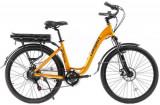 Bicicleta Electrica Pegas Comoda Dinamic, Roti 26inch, 7 Viteze, Viteza maxima 25 Km, Motor 250 W (Galben)