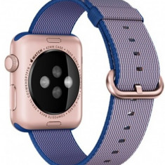 Curea pentru Apple Watch 38 mm iUni Woven Strap, Nylon, Electric Purple