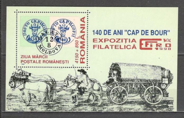 "Romania.1998 140 ani ""Cap de bour""-Bl. DR.671"